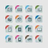 Iconos del libro Imágenes de archivo libres de regalías