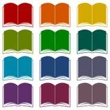 Iconos del libro fijados Fotos de archivo
