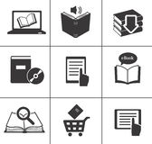Iconos del libro fijados. Foto de archivo libre de regalías