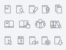 Iconos del libro fijados ilustración del vector