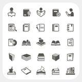 Iconos del libro fijados Fotografía de archivo