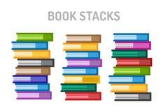 Iconos del logotipo del vector de los libros fijados Fondo de la venta Foto de archivo