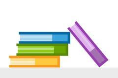 Iconos del logotipo del vector de los libros fijados Fondo de la venta Fotos de archivo libres de regalías