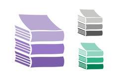 Iconos del logotipo del vector de los libros fijados Fondo de la venta Imágenes de archivo libres de regalías