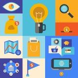 Iconos del márketing de Internet Imagen de archivo libre de regalías