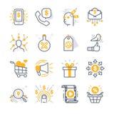 Iconos del márketing de negocio stock de ilustración