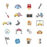 Iconos del mantenimiento del servicio del coche libre illustration