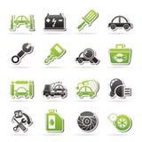 Iconos del mantenimiento del servicio del coche Imágenes de archivo libres de regalías