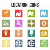 Iconos del mapa GPS y navegación Libre Illustration