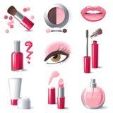 Iconos del maquillaje Fotografía de archivo libre de regalías