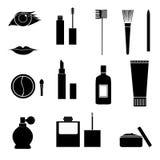 Iconos del maquillaje Fotografía de archivo