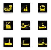 Iconos del maquillaje fijados Fotos de archivo libres de regalías