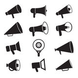 Iconos del megáfono Foto de archivo libre de regalías