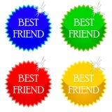 Iconos del mejor amigo Foto de archivo