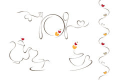 Iconos del menú del corazón Imagen de archivo