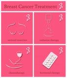 Iconos del mes de la conciencia del cáncer de pecho Imagenes de archivo