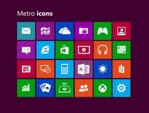 Iconos del metro ilustración del vector
