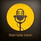 Iconos del micrófono Imagen de archivo libre de regalías