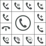 Iconos del microteléfono ilustración del vector