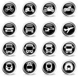 Iconos del modo de transporte Fotos de archivo libres de regalías