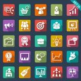 Iconos del márketing Fotografía de archivo libre de regalías