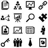 Iconos del negocio Imágenes de archivo libres de regalías