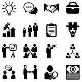 Iconos del negocio Imagenes de archivo