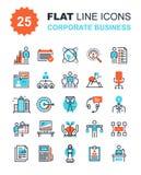 Iconos del negocio corporativo Foto de archivo libre de regalías