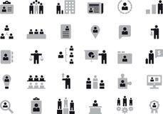 Iconos del negocio, de los recursos humanos y de la gestión stock de ilustración