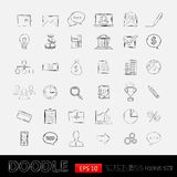 Iconos del negocio del garabato ilustración del vector
