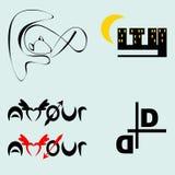 Iconos del negocio del vector fijados aislados en Gray Background Imagen de archivo libre de regalías