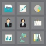 Iconos del negocio fijados Imagen de archivo libre de regalías