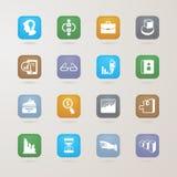 Iconos del negocio fijados Imagen de archivo
