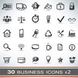 30 iconos del negocio fijados Imágenes de archivo libres de regalías