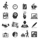 Iconos del negocio, gestión y recursos humanos. Imagen de archivo libre de regalías