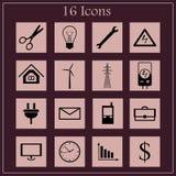 Iconos del negocio y de la industria Imágenes de archivo libres de regalías