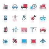 Iconos del negocio y de la industria Fotos de archivo libres de regalías