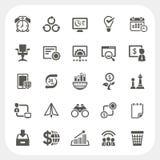 Iconos del negocio y de las finanzas fijados Imagen de archivo