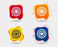 Iconos del objetivo de la blanco El tablero de dardos firma símbolos libre illustration