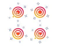 Iconos del objetivo de la blanco El tablero de dardos firma s?mbolos Vector libre illustration