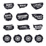 Iconos del objetivo de la blanco El tablero de dardos firma símbolos stock de ilustración