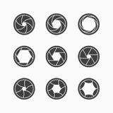 Iconos del obturador de cámara Foto de archivo libre de regalías