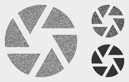 Iconos del obturador del vector de Pixelated stock de ilustración