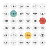 Iconos del ojo fijados Fotografía de archivo libre de regalías