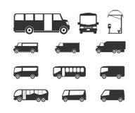 Iconos del omnibus Imagen de archivo libre de regalías