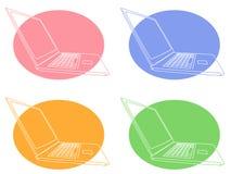 Iconos del ordenador Fotos de archivo libres de regalías