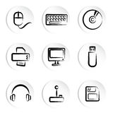 Iconos del ordenador Fotografía de archivo libre de regalías