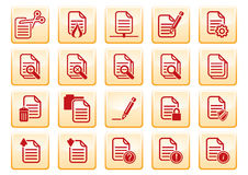 Iconos del ordenador Imagen de archivo