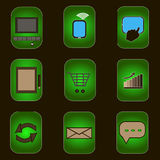 Iconos del ordenador imágenes de archivo libres de regalías