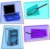 Iconos del ordenador Fotografía de archivo